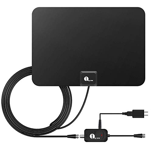 1byone Indoor Amplified HDTV Antenna [Newest] with Long Range Support 4K 1080P & All Older TV