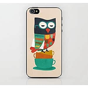 LIMME Cartoon Owl Pattern Hard Case for iPhone 4/4S