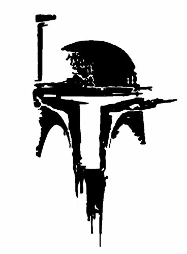 Star Wars Boba Fett Helmet V2, White, 6 Inch, Die Cut Vinyl Decal, For Windows, Cars, Trucks, Toolbox, Laptops, Macbook-virtually Any Hard Smooth Surface -