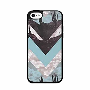 Cactus Chevron Design Plastic Phone Case Back Cover iPhone 5c