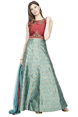 Manmandir Womens Cotton Silk Ghagra Choli Set Readymade (Salwar Suits for (Choli Suit)