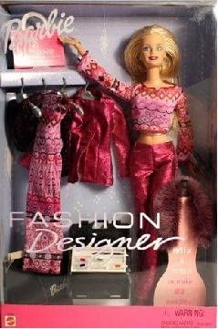 Amazon Com Barbie Fashion Designer Doll With Fashion To Mix And Match 23 Outifts Toys Games