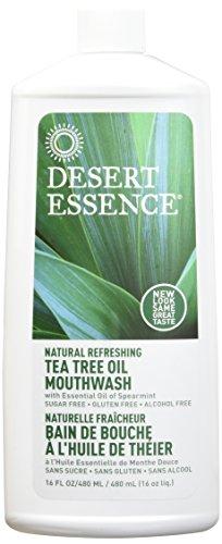 (DESERT ESSENCE MOUTHWASH,Tea Tree,Refill, 16 FZ(Pack of 3))