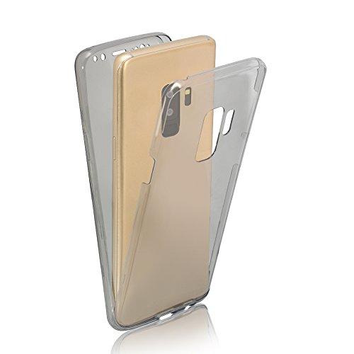 Funda Doble para Samsung Galaxy S9 Plus, Vandot Bling Brillo Carcasa Protectora 360 Grados Full Body   TPU en Transparente Ultra Slim Case Cover   Protección Completa Delantera y Trasera Cocha Smartph QBTPU 05