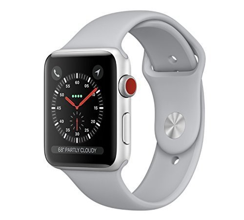 Apple Watch Series 3 42Mm Smartwatch  Gps   Cellular  Silver Aluminum Case  Fog Sport Band   Certified Refurbished