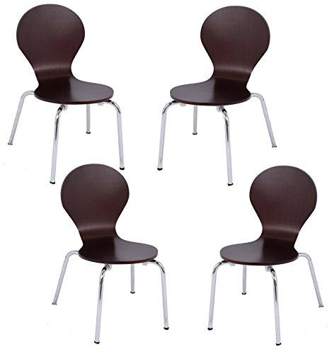 BirdRock Home Childrens Chairs   Chocolate   Set of 4   Kids Playroom Furniture   Modern Design