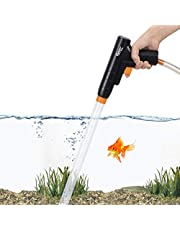 hygger Aquarium Gravel Cleaner, New Quick Water Changer with Air-Pressing Button Fish Tank Sand Cleaner Kit Aquarium Siphon Vacuum Cleaner with Water Hose Controller Clamp