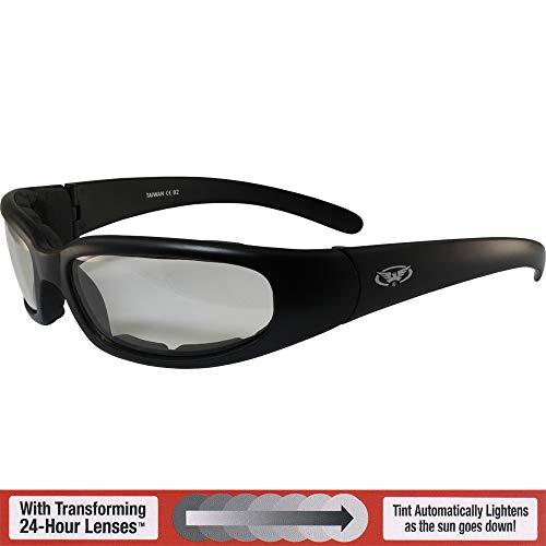 CHICAGO- Advanced System Photochromic Sunglasses - Foam Padded MATTE Black ()