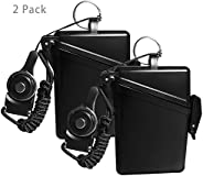 2 Pack Sport Waterproof ID Card Badge Holder Case with Lanyard Cover Multiple Credit Cards, Registration, ins