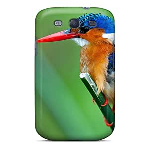 Anti-scratch And Shatterproof Malachite Kingfisher Phone Case For Galaxy S3/ High Quality Tpu Case