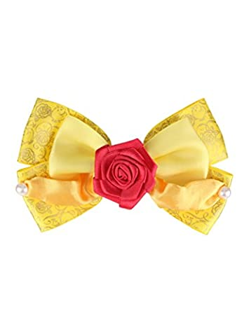 Disney Beauty And The Beast Belle Dress Cosplay Hair Bow (Beast Jewelry)