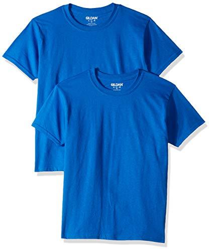 Gildan Kids' Big Ultra Cotton Youth T-Shirt, 2-Pack, Royal, Medium