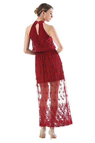 ccf8349514f00b ... Und Spitze Rock Kleid Trägerlos Red Bestickte Europa Amerika Dünnes