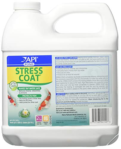 PondCare 317163041406 140d 64 Oz Stress Coat Fish & Water Conditioner