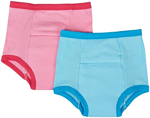 - green sprouts Organic Training Underwear, Pink/Aqua, XL, 2 Count