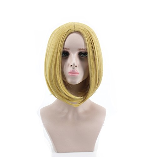 Women's Fashion Short Straight Golden Cosplay Wigs -