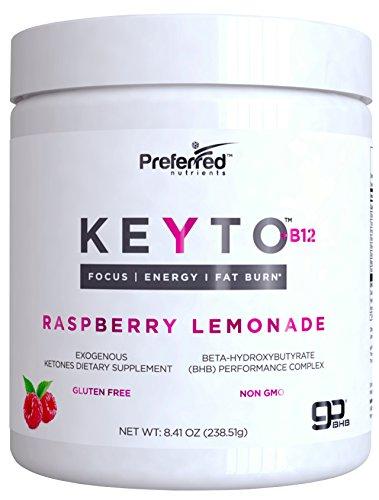 Keto BHB Salts Exogenous Ketones - Beta-Hydroxybutyrate Supplement Powder & Vitamin B12 for Mental Clarity, Weight Loss, Energy and Fat Burn - Raspberry Lemonade KEYTO by Preferred Elements