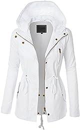 Amazon.com: White - Trench Rain &amp Anoraks / Coats Jackets