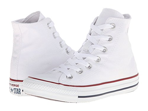 Converse Chuck Taylor All-stars Hoge Top Aderkleuren Optical White