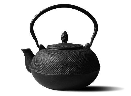 Old Dutch Cast Iron Hakone Teapot/Wood Stove Humidifier, 3-Liter, Matte Black (Wood Enameled Stove)