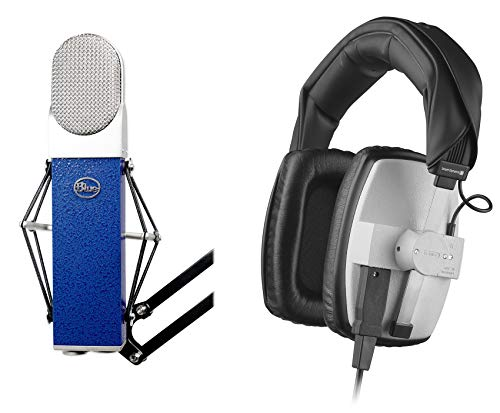 Blue Blueberry Studio Mic Recording Microphone+Beyerdynamic DT-100 Headphones (Microphone Blueberry Cable)