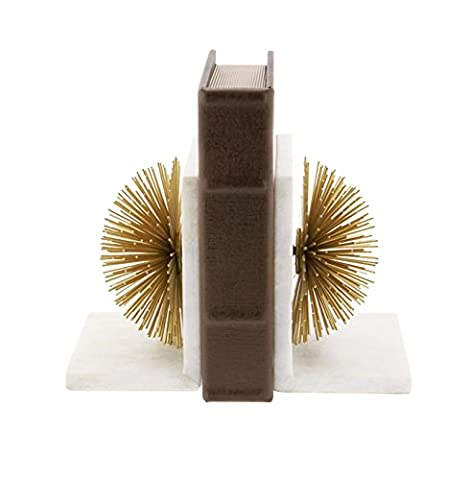 Metal Marble Gold Bookend Pair 5