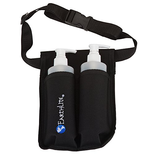 EARTHLITE Massage Bottle Holster Double Kit – Incl. 2 Bottles & Heavy Obligation, Adjustable Double Holster for Massage Oil, Massage Lotion (2x 8oz) – DiZiSports Store