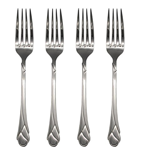 Mikasa Sweet Pea 18/8 Stainless Steel 8'' Dinner Fork (Set of Four) by Mikasa (Image #4)