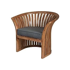 Guildmaster 2317003GO Teak Grey Outdoor Barrel Chair Cushion