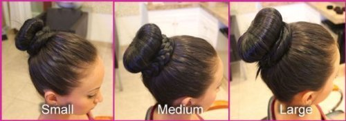 BlastCase Hair Chignon Donut Bun Maker, Small,Medium and Large, 3 Pieces