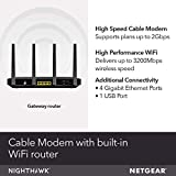 NETGEAR Nighthawk Cable Modem WiFi Router Combo
