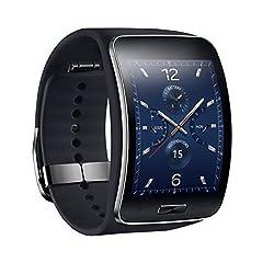 Genuine Samsung Sm-r750 Galaxy Gear S Curved Amoled Smart Watch Unlock (Black) - International Version No Warranty