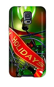 Galaxy S5 Case Slim [ultra Fit] Awesome Happy Holidays Protective Case Cover