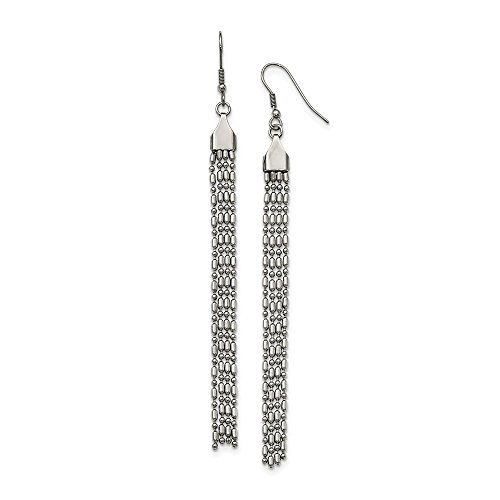 Buy goldia stainless steel long dangle earrings
