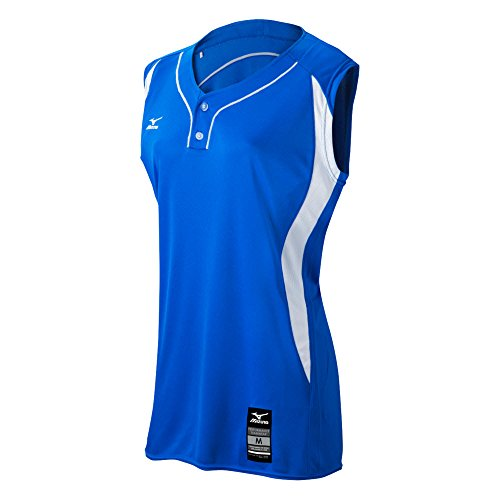 Mizuno 350604.5200.09.XXXL Elite 2-Button Game Jersey Sleeveless XXXL Royal-White
