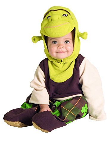 Baby Girl Shrek Costume (Rubie's Costume Co Shrek Romper And Headpiece Shrek, Shrek Print, Newborn (0-9 Months))
