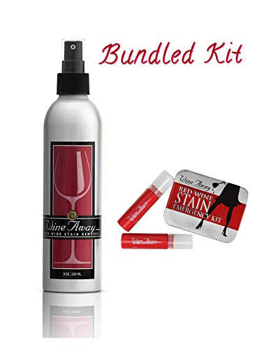 8 oz. Wine Away Red Wine Stain Remover Aluminum Bottle Signature Collection and Emergency Kit Bundle