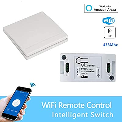 WiFi Smart Switch Wireless Remote Control Light Timer Relay Switches 110V 220V Home Automation Module Compatible with Alexa