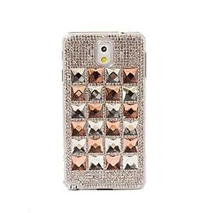 Teléfono Móvil Samsung - Cobertor Posterior - Diseño Especial/Apariencia de Diamante - para Samsung Galaxy Note 3 ( Orange , Plástico )