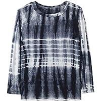 YUEXIN Girls Tie Dye Print T-Shirt Kids Long Sleeve Crew Neck Casual Top Blouse