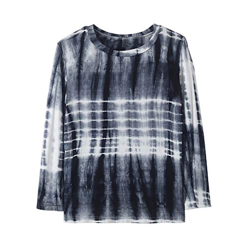 YUEXIN Girls Tie Dye Print T-Shirt Kids Long Sleeve Crew Neck Casual Top Blouse ()