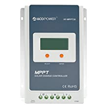 ACOPOWER  30A MPPT Solar Charge Controller 100V input HY-MPPT Series HY-MPPT30 With LCD Display