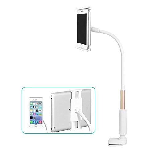 Wonderpark 360 Rotating Flexible Long Arm Cell Phone Holder Stand Lazy Bed Desktop Tablet Car Selfie Mount Bracket (90cm)