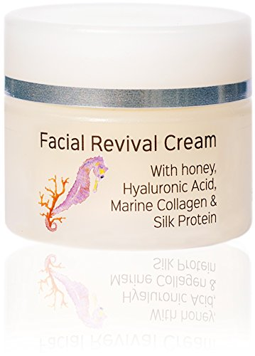 Bloom Skin Care Facial Revival Cream 1.69oz - Hyaluronic Acid Tightening Face Cream for Women and Men - Paraben and Cruelty Free - Natural Moisturizer for firming skin