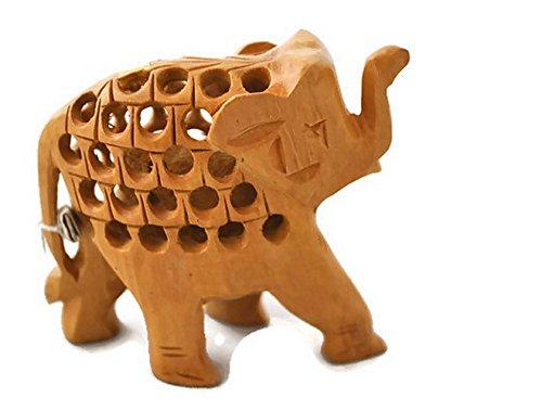 StarZebra Handmade Wooden Elephant Figurine 3