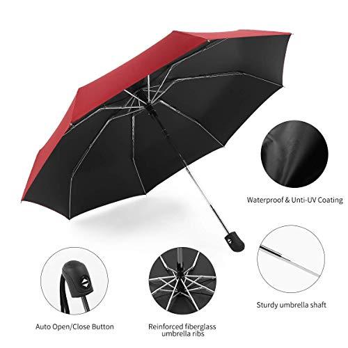1a06909be ... Automatic Travel Umbrella Compact Mini Umbrella Windproof Folding Rain Umbrella  Auto Open/Close Lightweight Small ...