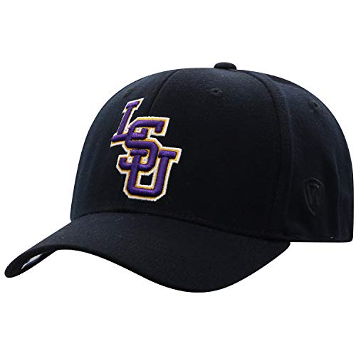 Top of the World LSU Tigers Men's Memory Fit Hat Icon, Black, One Fit ()