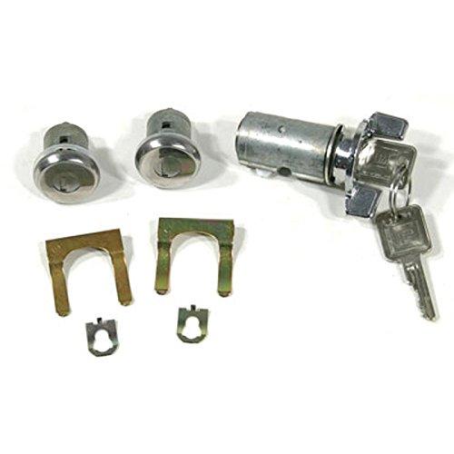 Eckler's Premier Quality Products 55-195069 - El Camino Ignition & Door Locks, Late Style Keys - El Camino Ignition Key Lock