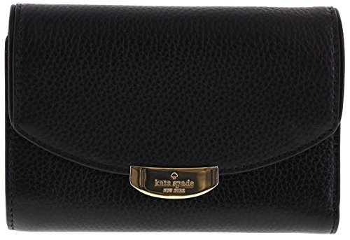 Kate Spade New York Mulberry Street Callie Pebbled Leather Wallet (Black) - Black Pebbled