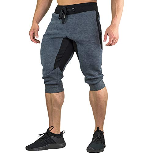 MECH-ENG Men's 3/4 Joggers Pants Workout Gym Capri for sale  Delivered anywhere in Canada